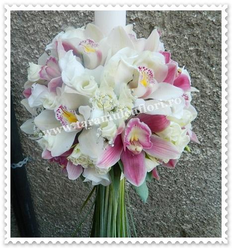 Lumanari de nunta orhidee si miniroze.6478